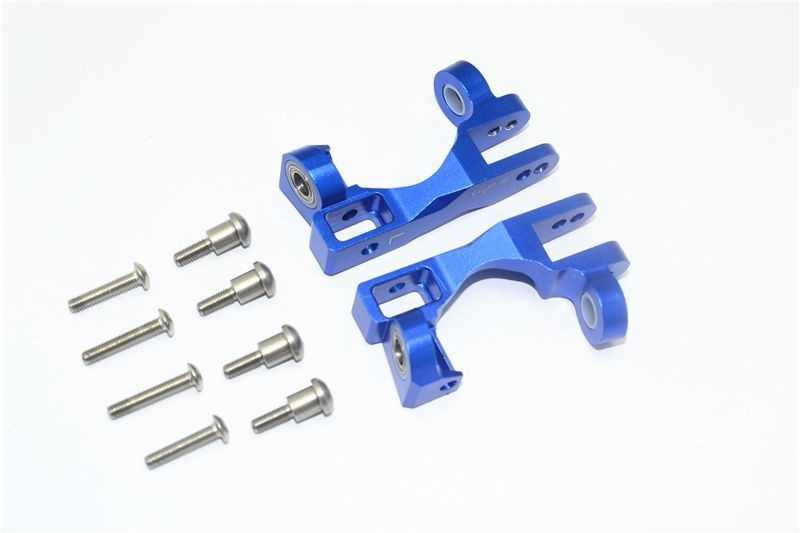 ALUMINUM FRONT C HUB -10PC SET blue