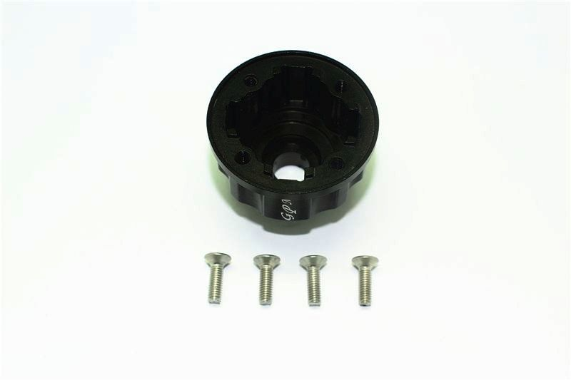 ALUMINUM DIFF CASE FOR FRONT / REAR / CENTER-5PC SET black