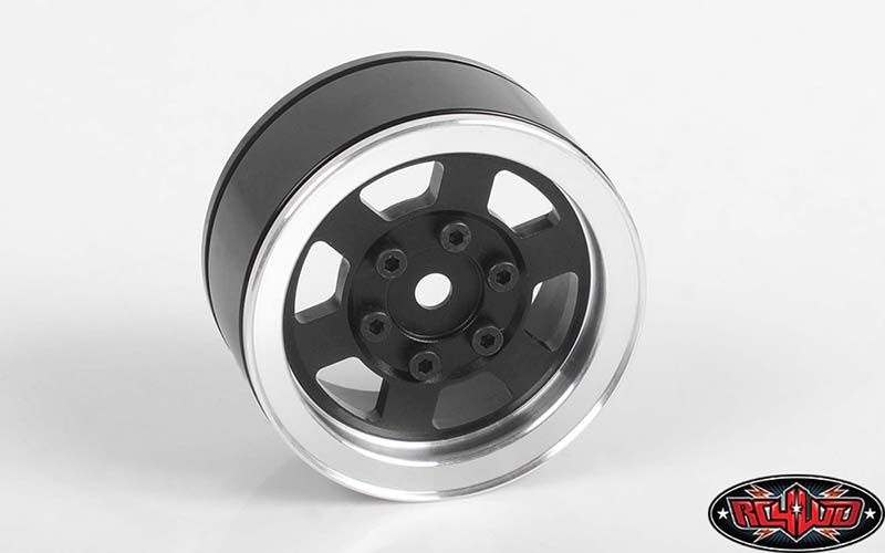 Six-Spoke 1.55 Internal Beadlock Wheels (Black)