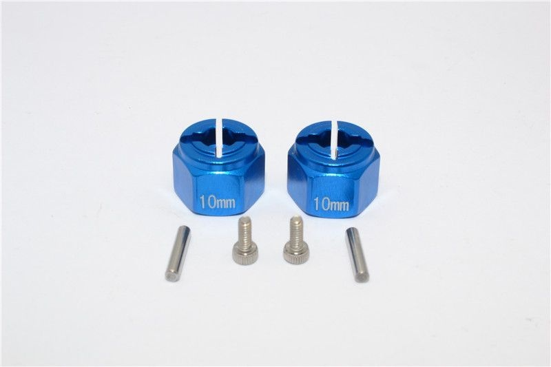 ALUMINIUM HEX ADAPTER (12X10MM) - 2PCS SET blue