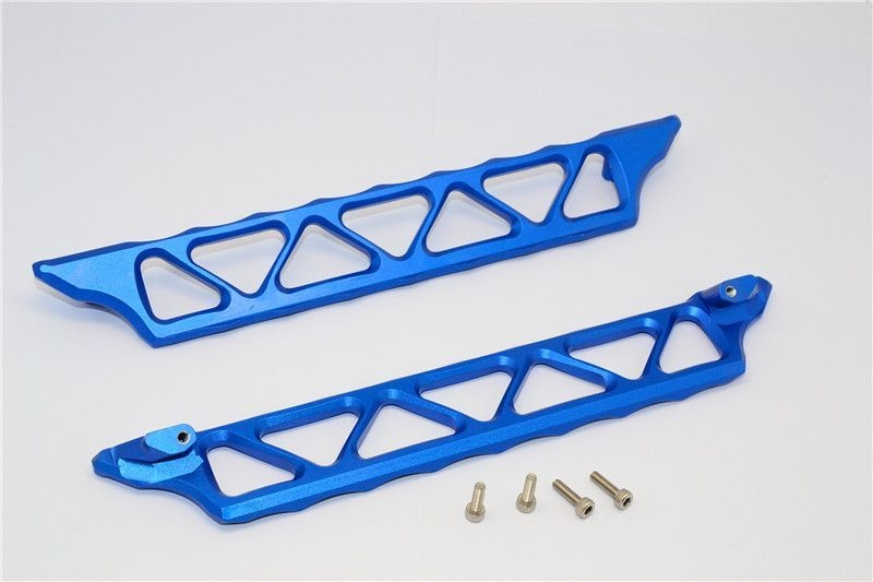 ALUMINIUM SIDE TRAIL - 2PCS SET blue
