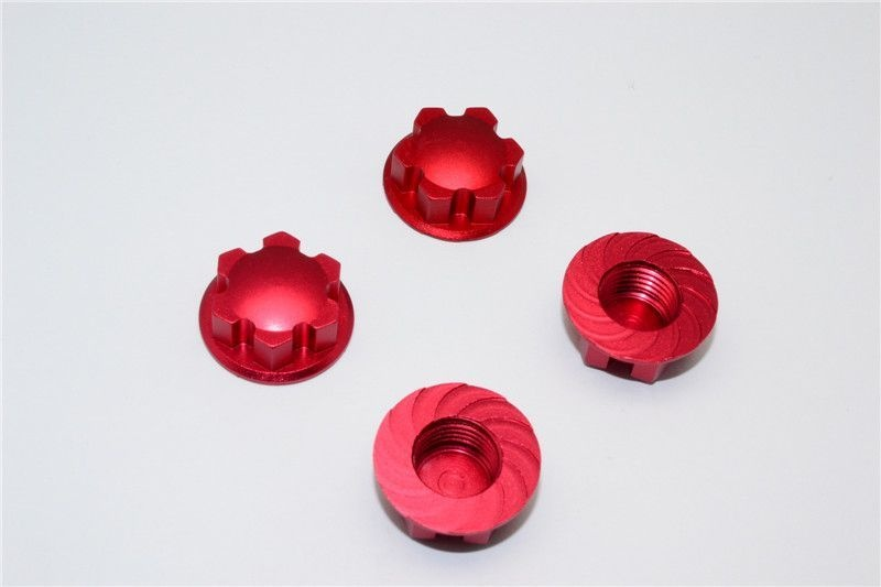ALUMINIUM WHEEL LOCKER - 4PCS red