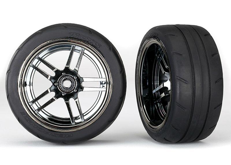 Reifen auf Felge Split-Spoke Chrome-schwarz 1.9 Response hi