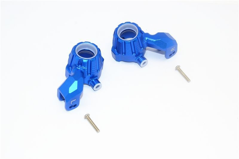 ALUMINUM FRONT KNUCKLE ARMS -4PC SET blue