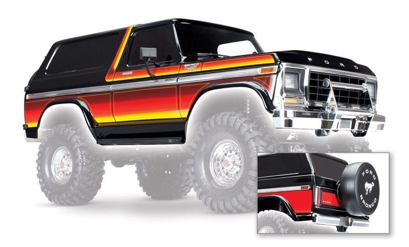 Karo Ford Bronco schwarz (lackiert inkl. Anbauteile)