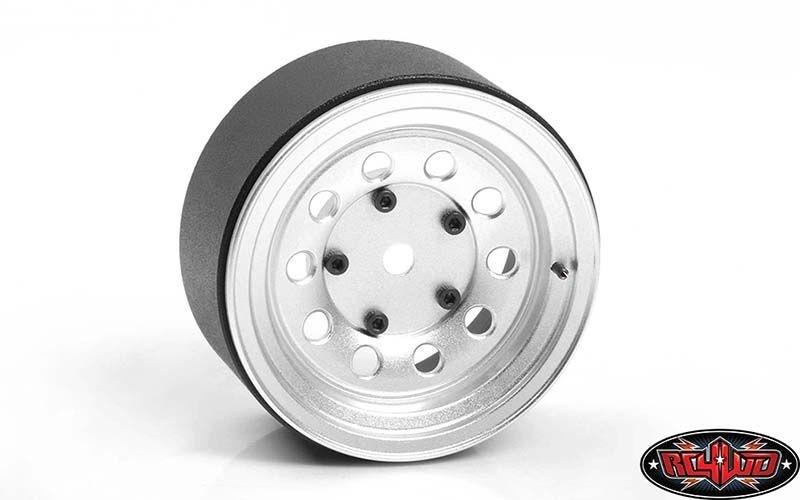 Burato 2.2 Beadlock Wheels w/ Center Caps (Silver)