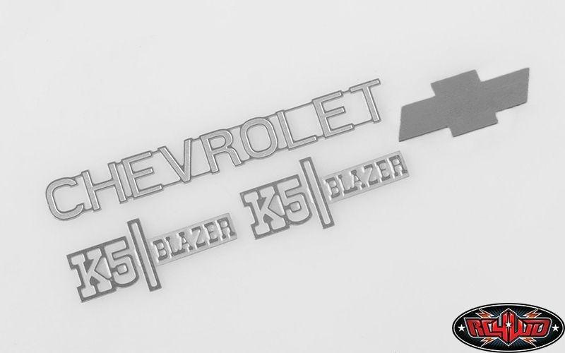 Chevrolet Blazer Metal Emblem Set