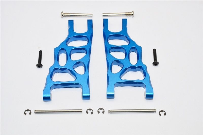ALUMINIUM FRONT SUSPENSION ARM - 1PR SET blue