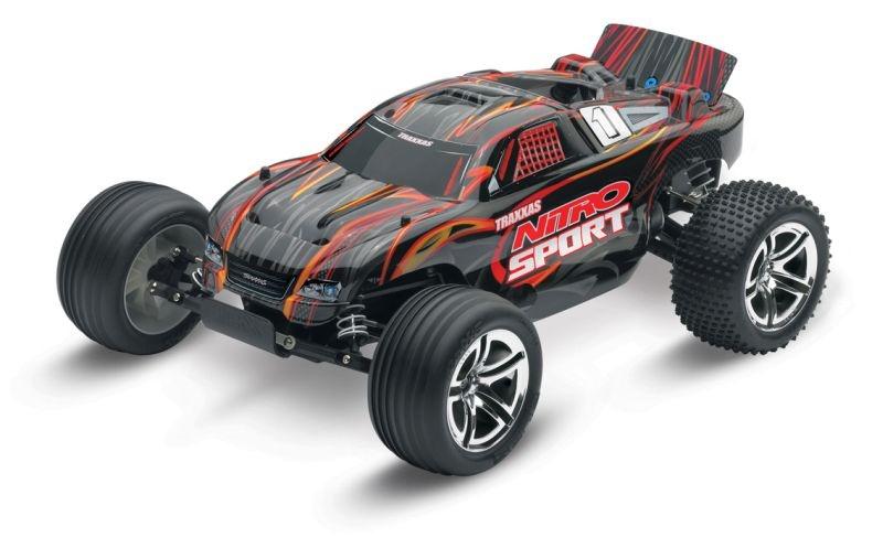TRAXXAS Nitro-Sport schwarz RTR SE 2.4GHz +12V-Lader
