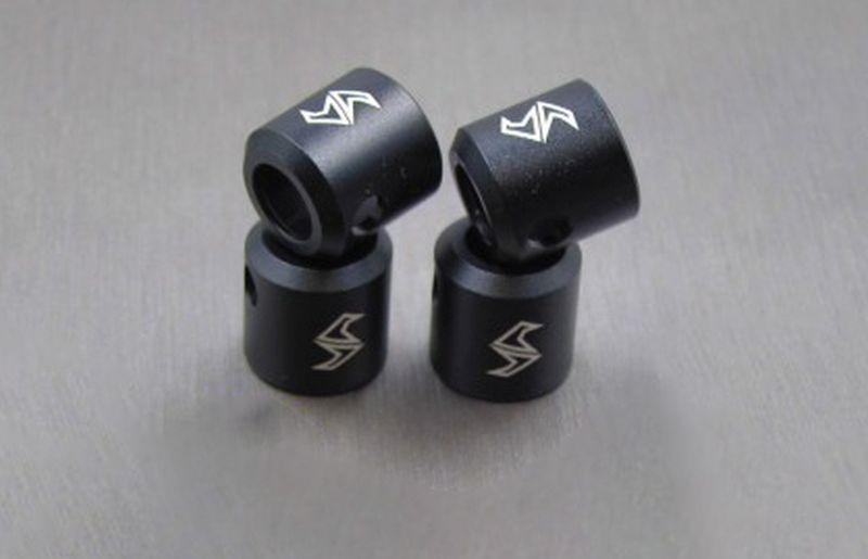 SAMIX SCX10-2 alum black drivershaft cups 4pcs