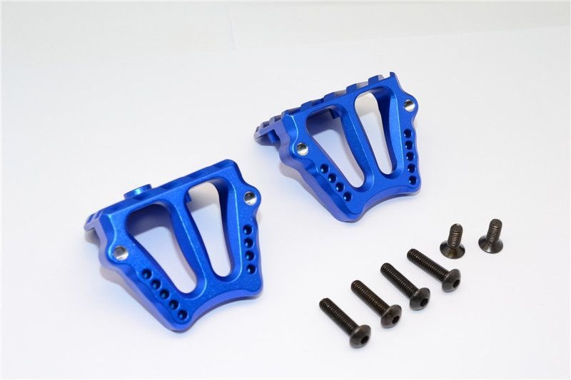 ALUMINIUM MOTOR HEATSINK MOUNT - 1SET blue