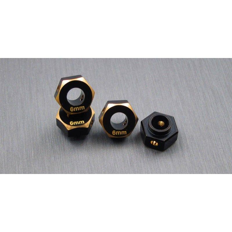 SAMIX TRX-4 brass hex adaptar (6mm)