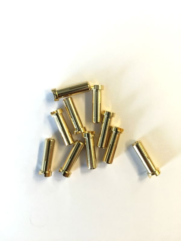 5mm Goldkontaktstecker 18mm  (10Stk)