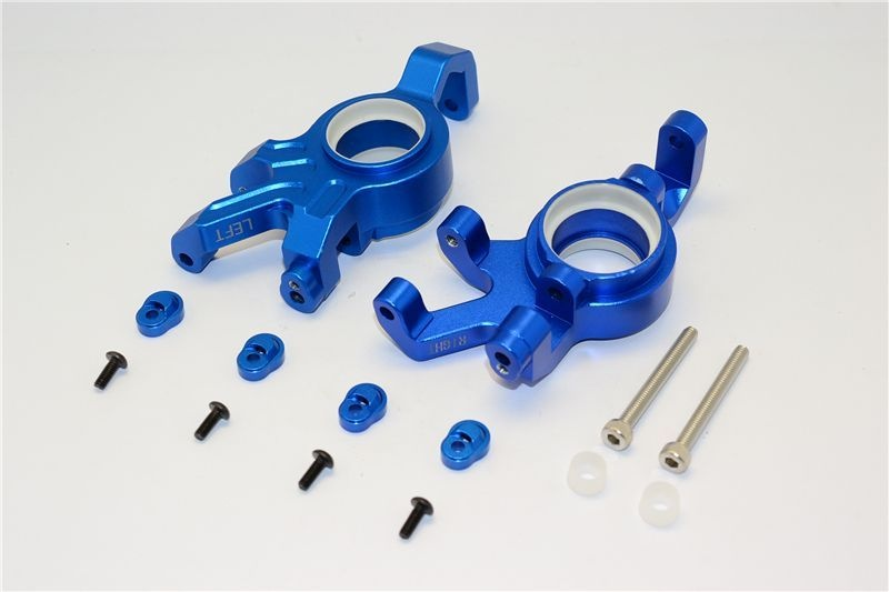 ALUMINUM FRONT KNUCKLE ARMS WITH COLLARS 14PC SET blue