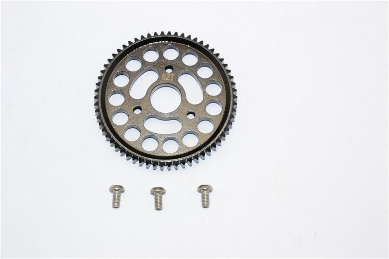 STEEL SPUR GEAR (62T) - 1PC SET black