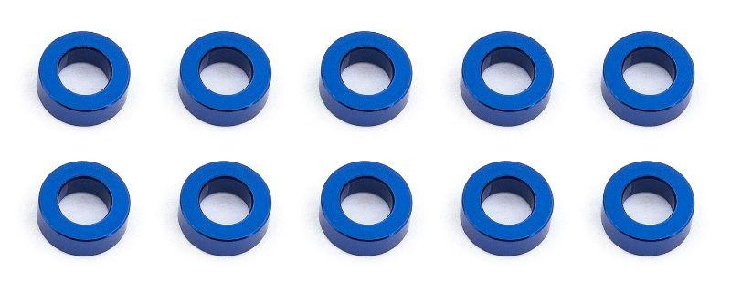 Kugelkopf Scheiben 5.5x2,0mm, Alu blau (10)