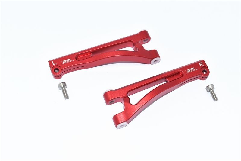 ALUMINUM FRONT UPPER ARMS -4PC SET red