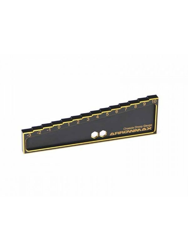 Chassis Droop Gauge -3 to 10mm for 1/8, 1/10 Cars (20mm)Bla