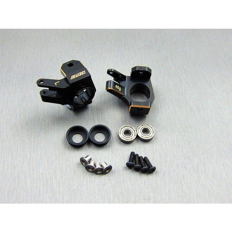 SAMIX SCX10-2 brass heavy steering knuckle (black coating)