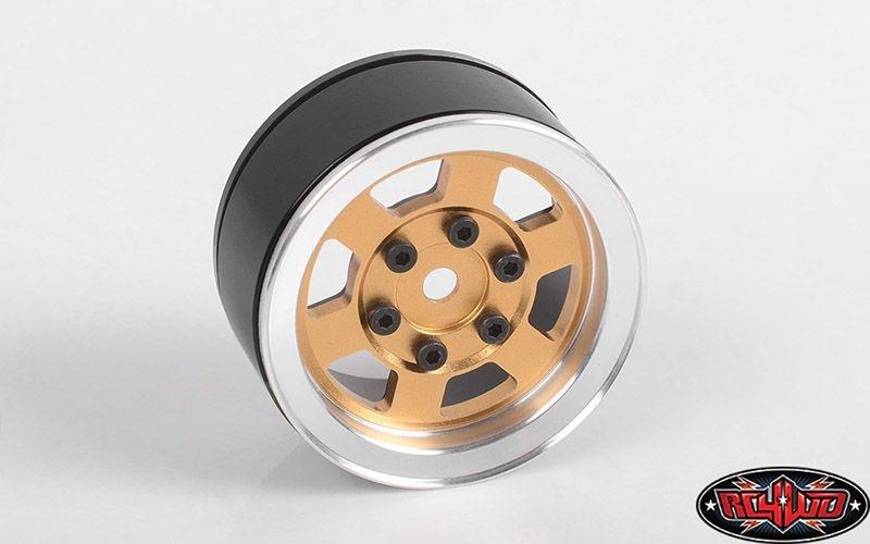 Six-Spoke 1.55 Single Internal Beadlock Wheel (Gold)