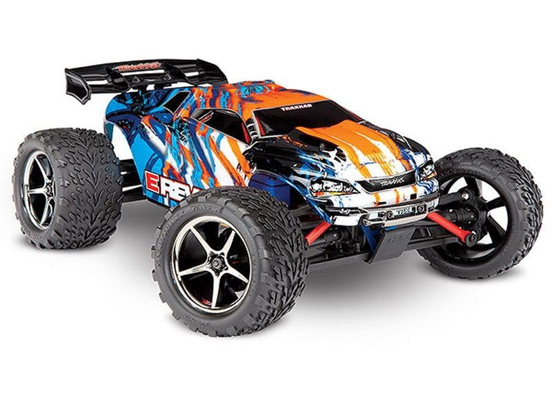 TRAXXAS E-Revo 4x4 orange RTR +12V-Lader+Akku