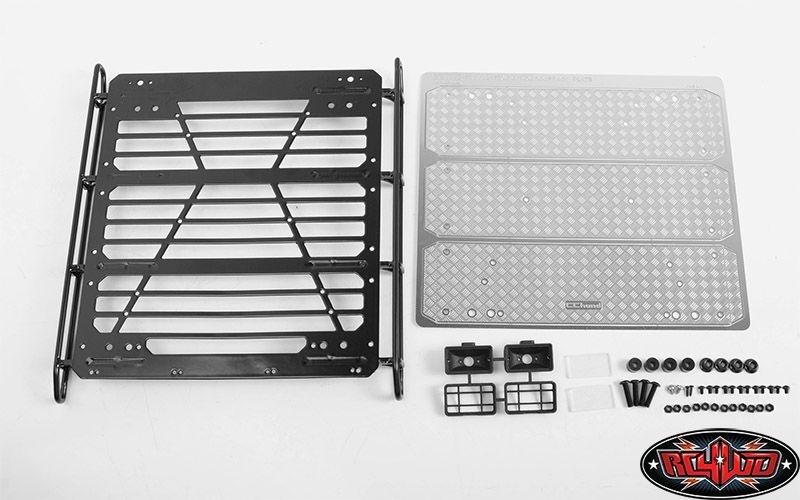Command Roof Rack w/ Diamond Plate & 2x Square Lights