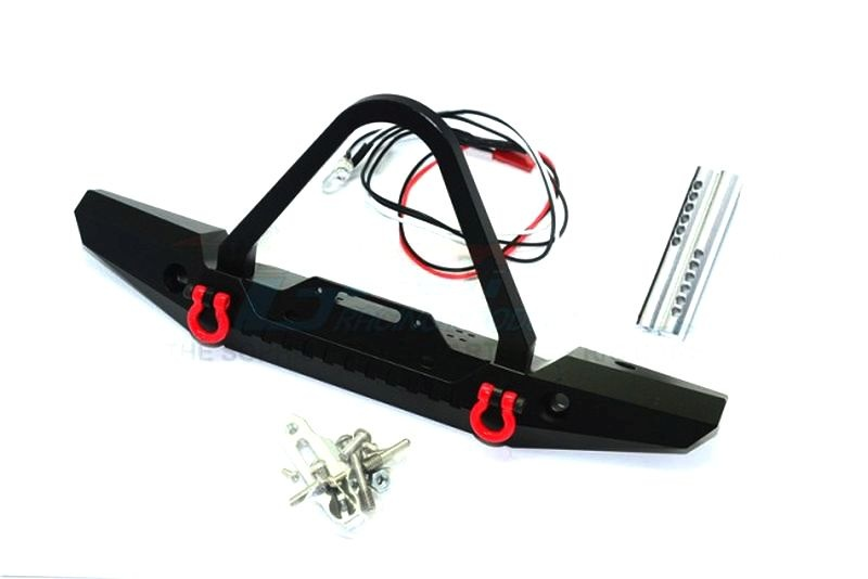 ALU FRONT BUMPER WITH LED LIGHTS FOR CRAWLERS (B)-19PC SET