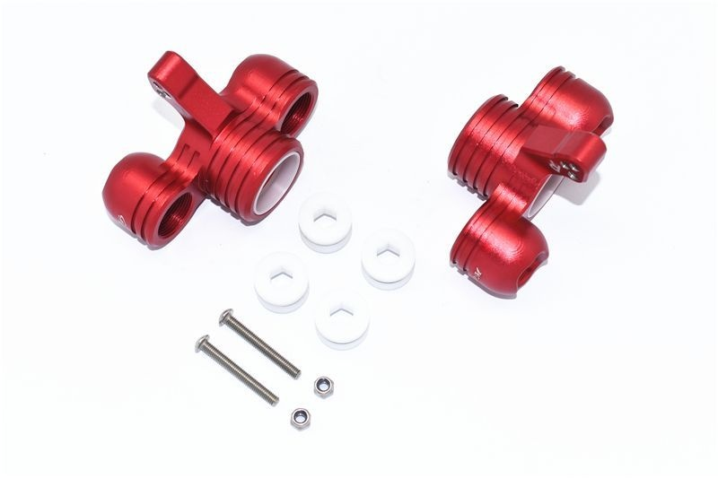 ALUMINUM FRONT KNUCKLE ARMS -10PC SET red