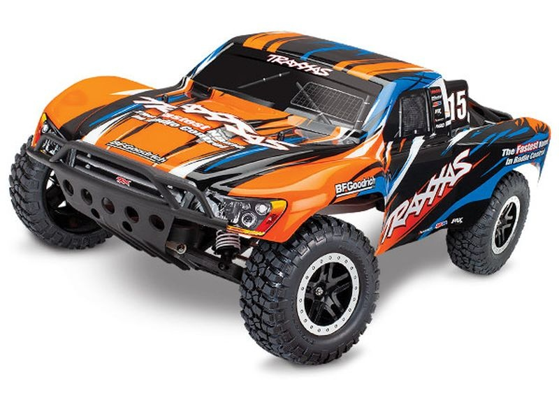 TRAXXAS Slash orangeX RTR +12V-Lader+Akku
