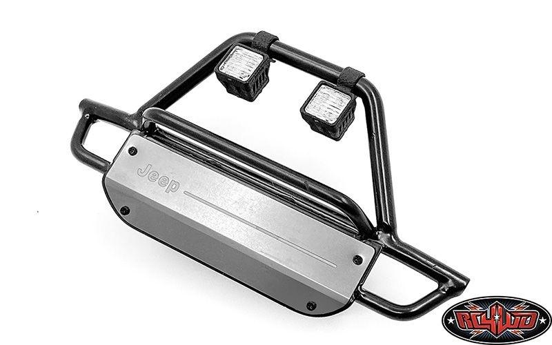 KS Steel Front Bumper w/ Lights for Axial 1/10 SCX10 III