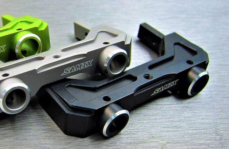 SAMIX SCX10-2 alum black rear bumper mount set