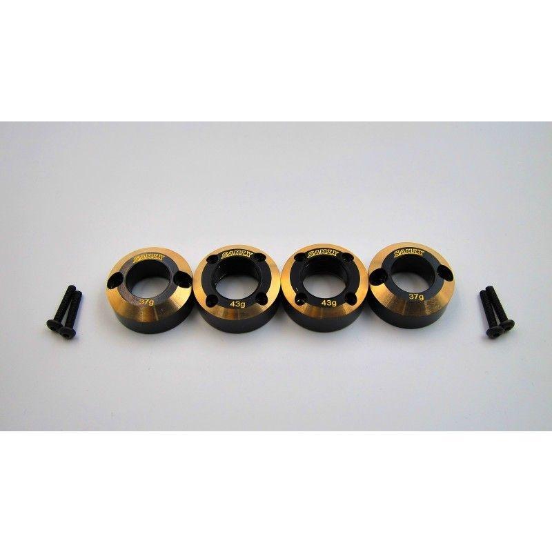 SAMIX SCX10-2 Rear Brass heavy weight for SAMIX lock out