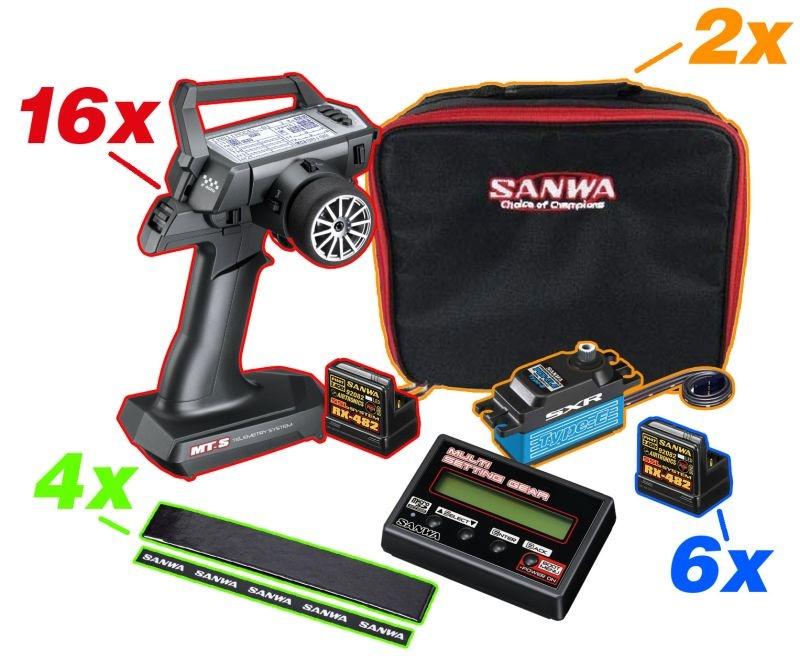 MT-S GroßSet 16xTX/RX+PgBox+2xBag+6xRX482+2xPGS-CLE+4xGripTa