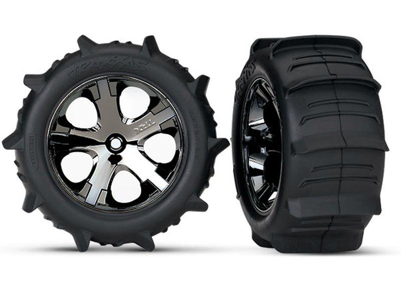 Paddle-Reifen auf Felge 2.8 All-Star chrome schwarz TSM rate