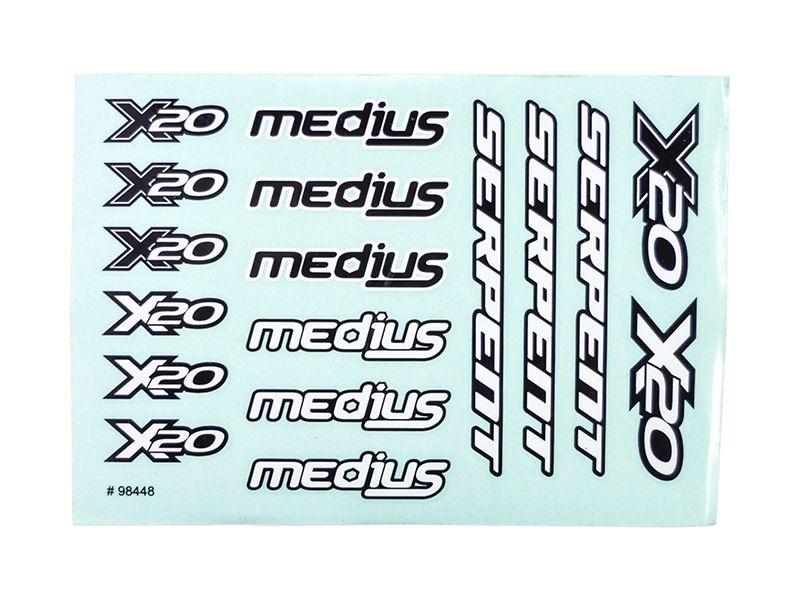 Decal sheet (2) X20  (SER401876)