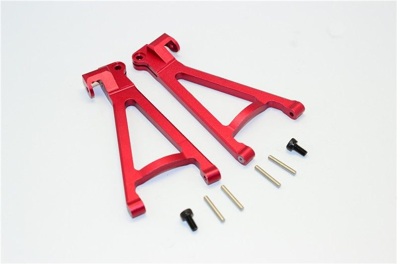 ALUMINIUM REAR LOWER ARM - 1PR SET red