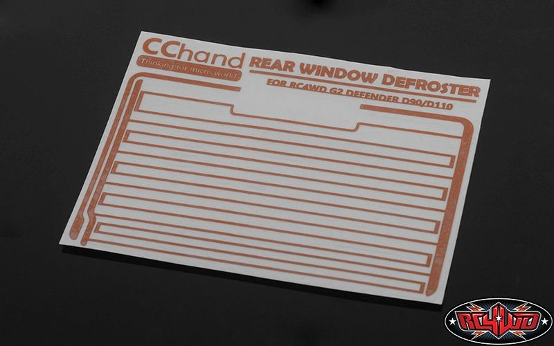 Rear Window Defroster Decal for Gelande II (D90/D110)