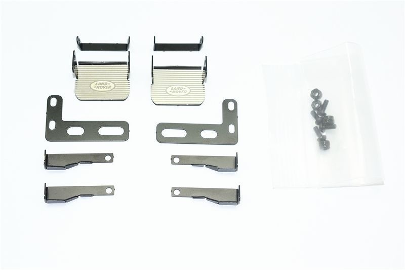 SCALE ACCESSORIES stnl-steel SIDE STEP TRX-4 DEFENDER -18PCS