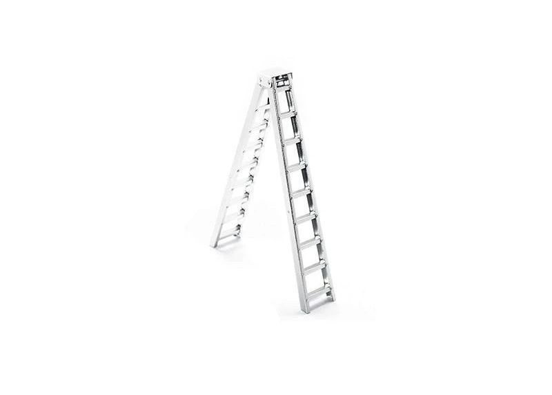SCALE ACCESSORIES: ALU LONG STEP LADDER FOR CRAWLERS -1PC