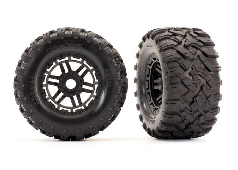 Reifen auf Felge montiert Felge schwarz Maxx All-Terrain Rei