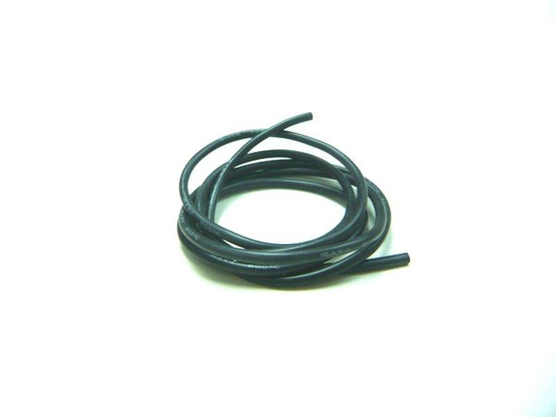 Kabel 100cm soft-silicone schwarz 16