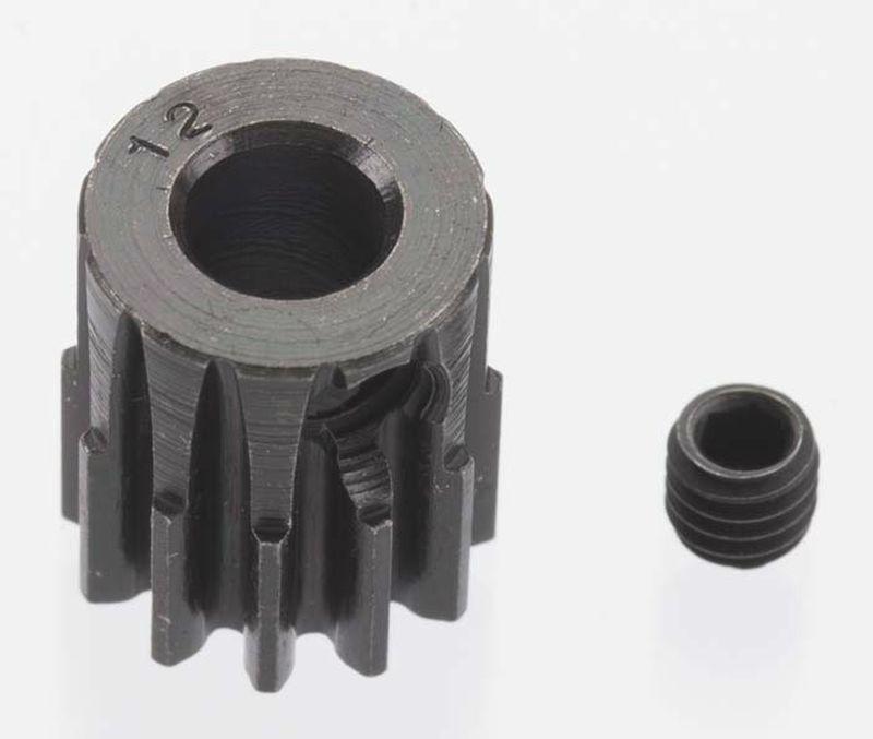 Extra Hart 12 tooth Blackened Stahl 32p Ritzel 5mm