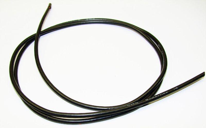 14Gauge Superflex Kabel schwarz 3ft