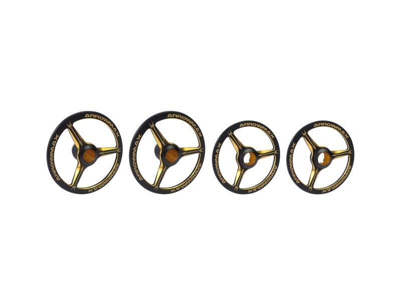 Alu Set-Up Wheel For 1/8 On-Road Cars Black Golden (4)