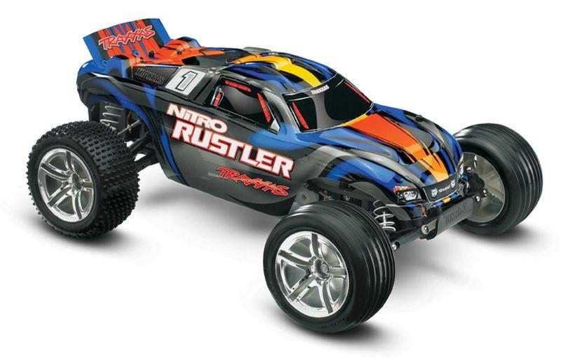 TRAXXAS Nitro-Rustler 2.4GHz +12V-Lader +TSM