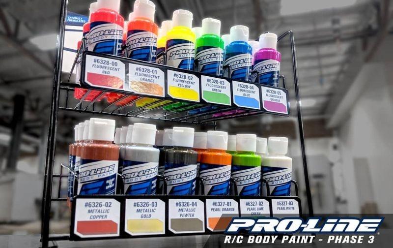 Pro-Line Farbständer bestückt / Polycarbonate Airbrush-Farbe