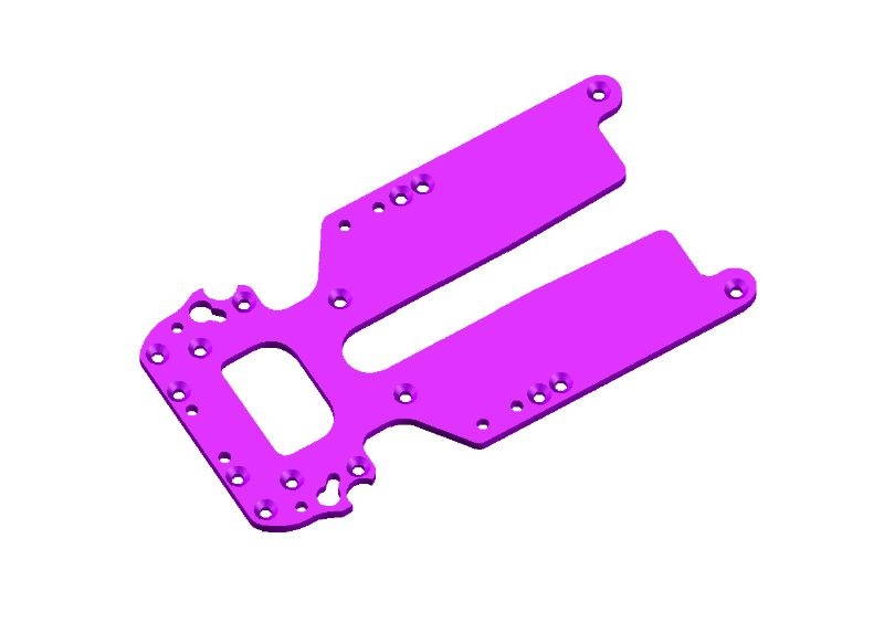JR128-R01 Aluminium Base Plate Purple-