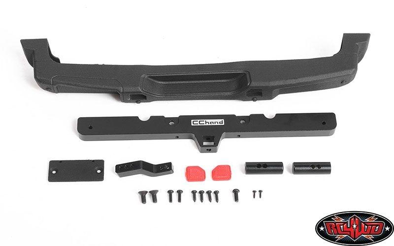 OEM Rear Bumper w/ Tow Hook + License Plate Holder
