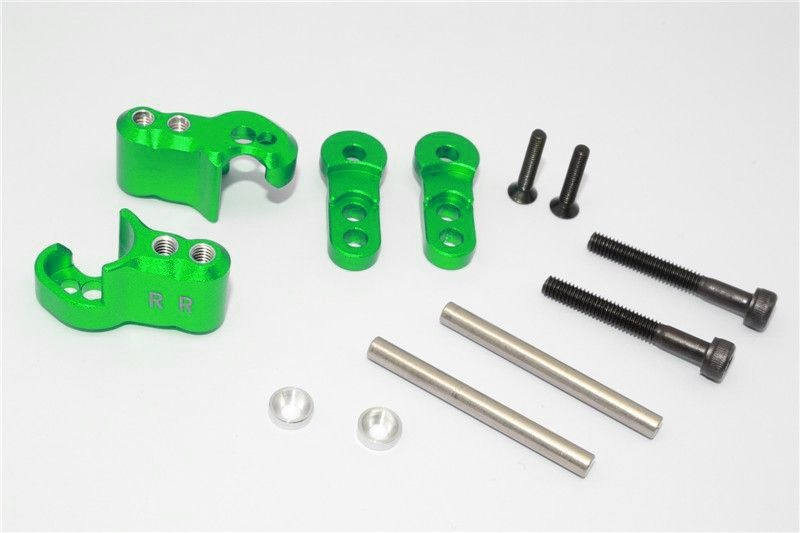 ALUMINIUM REAR ADJUSTABLE SHOCK MOUNT - 1SET green