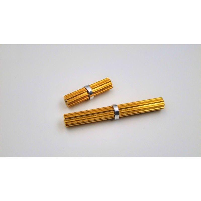 SAMIX SCX10-2 brass inner drivershaft cups 4pcs 1short/1long